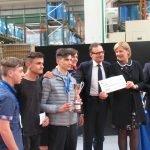 Premiazione degli studenti del CFP Trissino al Concorso Olimpiade della macchina utensile