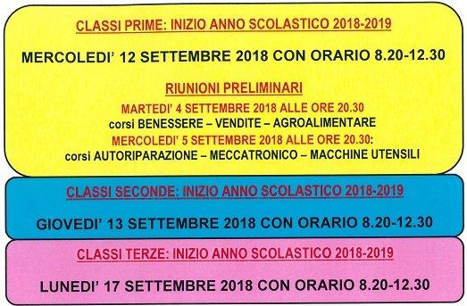 cfp trissino 2018 prime classi